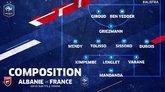 阿尔巴尼亚vs法国首发:格列兹曼先发,姆巴佩坎特替补