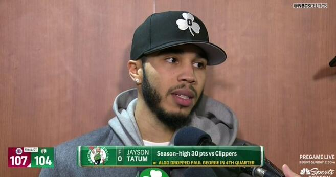 塔特姆:爱这支球队的一件事就是都在尽力打球