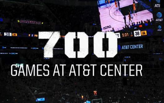 马刺主场AT&T迎来第700场比赛,胜率联盟第一