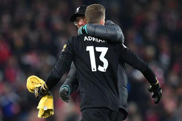 克洛普:阿德里安是全场最佳,没热身开球门球也很难的