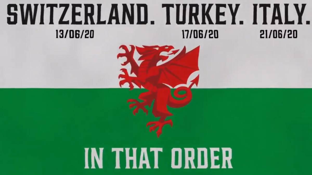 """玩坏了,威尔士队官推发""""瑞士、土耳其、意大利"""""""