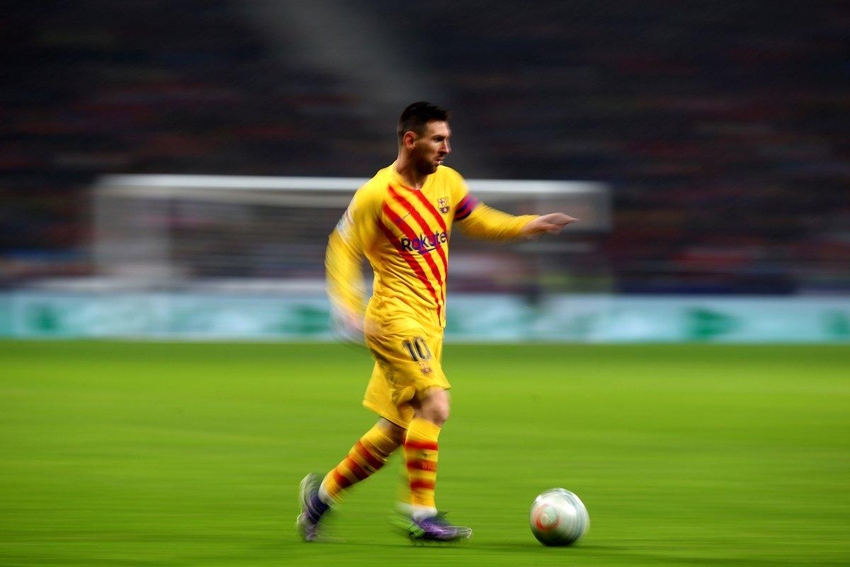 习惯了嘛!梅西在对马竞的第27场西甲联赛中进了第25球