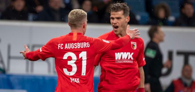 德甲:马克斯梅开二度,奥格斯堡4-2客胜霍芬海姆