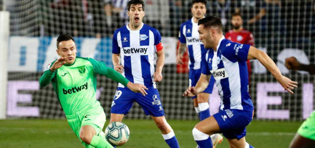 西甲:布莱斯维特破门何塞卢扳平,阿拉维斯1-1莱加内斯
