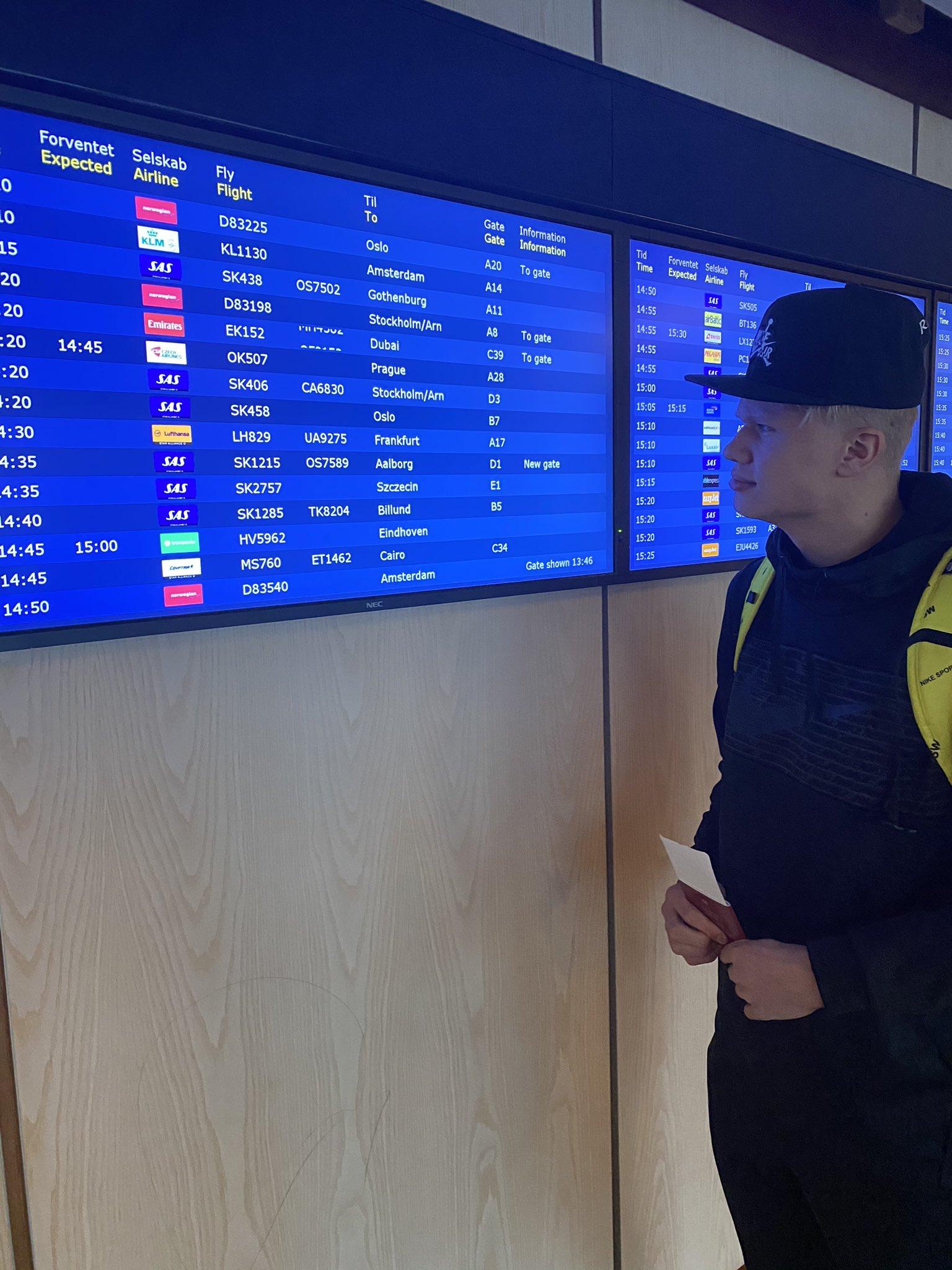 哈兰德爸爸喊话挪威记者:再猜猜我儿子的航班?