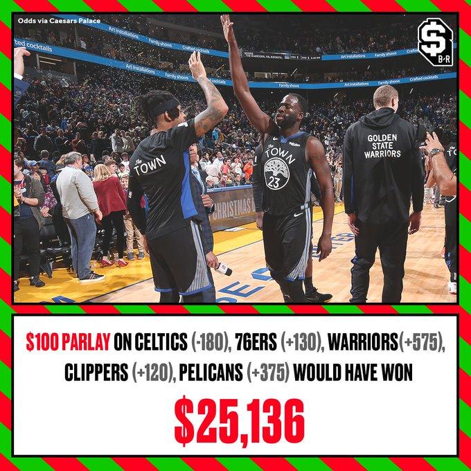 若五场圣诞大战全猜中,压100美元将赚钱25136美元