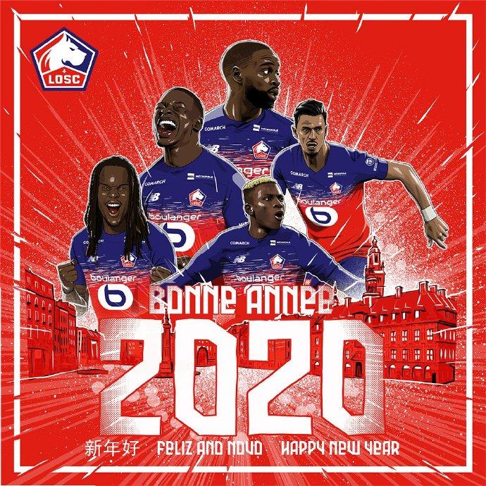欢迎2020!法甲多队发布新年海报,祝球迷新年快乐