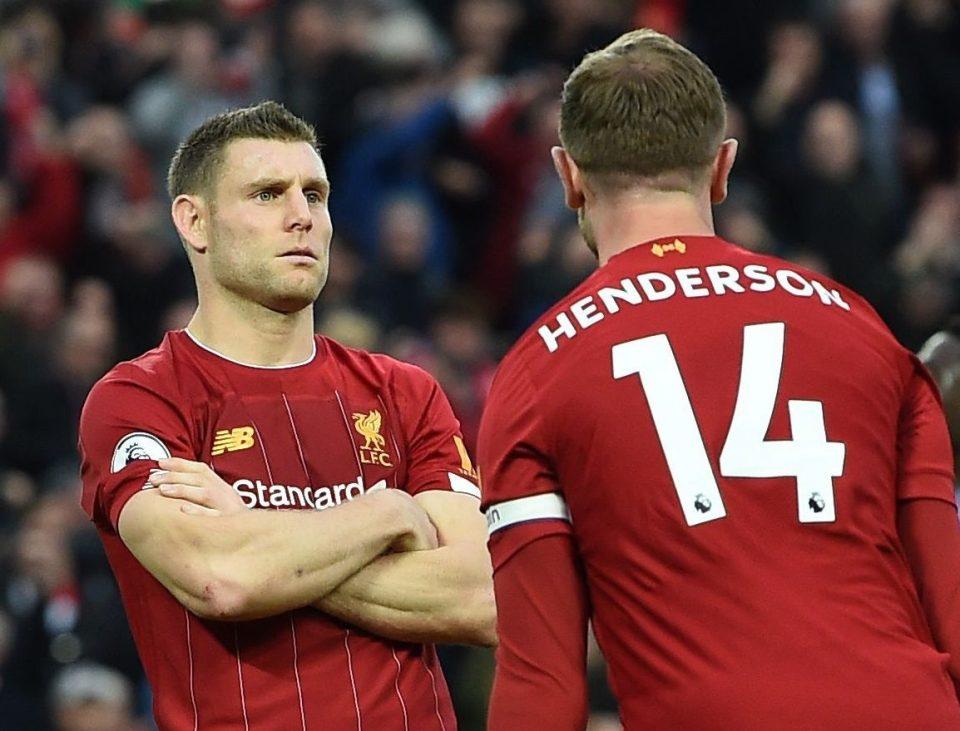 红军名宿!米尔纳为利物浦出战204场,超过其在曼城场次