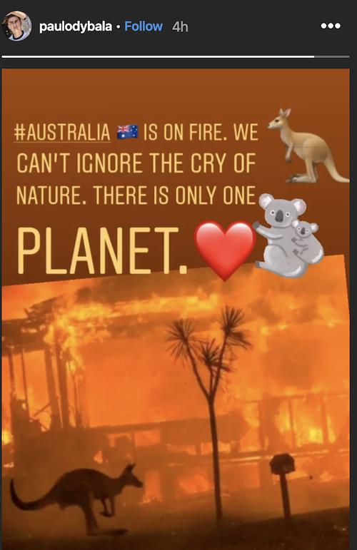 心系全球!迪巴拉关注澳大利亚大火,呼吁关爱自然