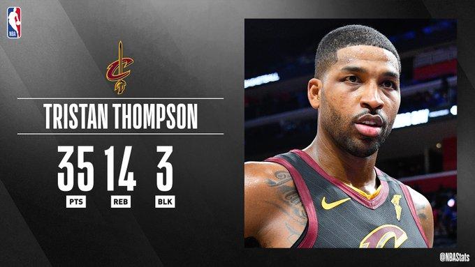 NBA官方评选最佳数据:汤普森35 14 3当选