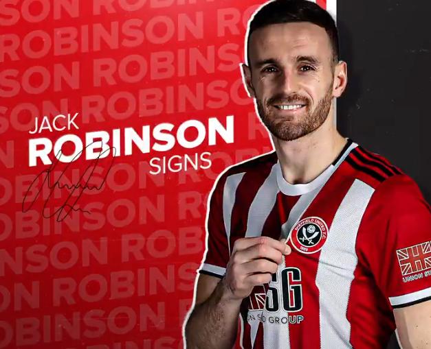 官方:前利物浦青训后卫杰克-罗宾逊添盟谢菲联