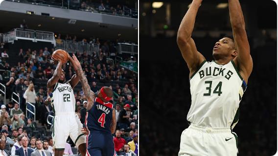 米德尔顿&字母哥本赛季都拿过50 10,NBA历史第3对队友