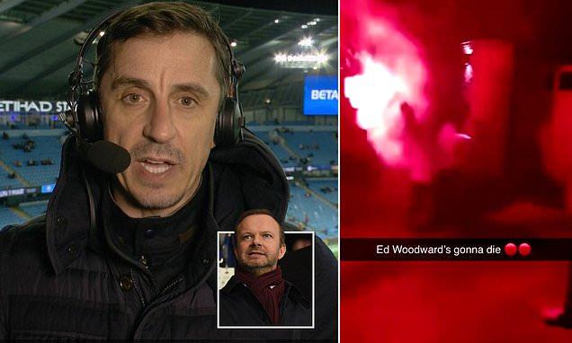 内维尔:球迷袭击伍德沃德别墅,因对曼联管理层积怨已久