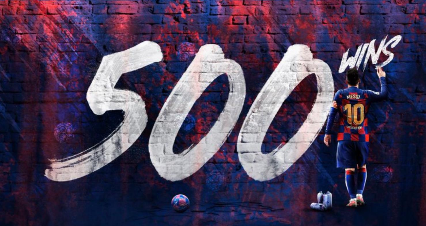 纪录之夜要圆满!梅西近500场打进500球迎500胜