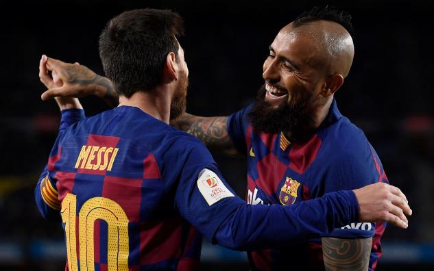 梅西两射一传格列兹曼朗格莱阿图尔建功,巴塞罗那5-0莱加内斯晋级