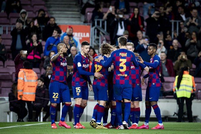 GIF:梅西助攻朗格莱头球小角度破门,巴塞罗那再下一城