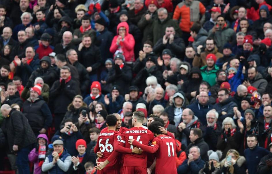 利物浦不败场次达42场,英国顶级联赛纪录只剩阿森纳