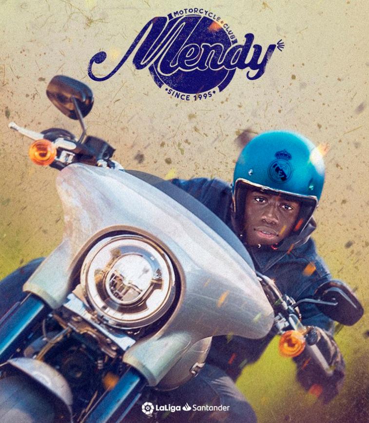 西甲官方海报:快快奔跑!门迪在皇马的边路开起了摩托
