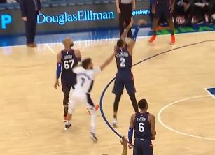 [视频]手感爆发!艾灵顿连续命中三记三分帮助球队快速追分