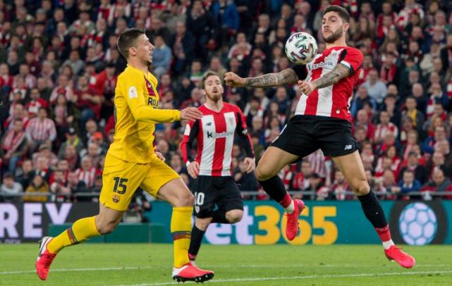 威廉姆斯补时献绝杀皮克伤退,巴塞罗那客场0-1遭毕巴淘汰