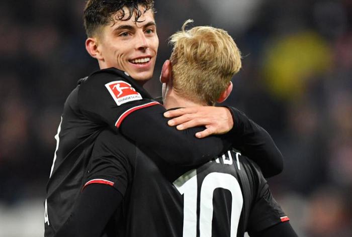 哈弗茨:希望周末的德甲比赛后可以再次安慰布兰特