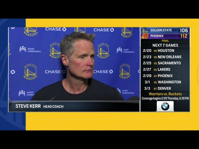 科尔:22失误还让对手利用失误得到32分,这很难赢球