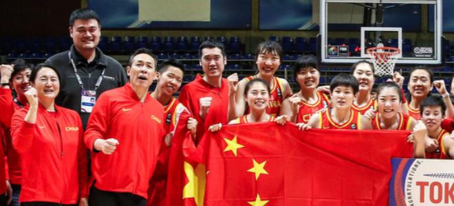 FIBA最新排名:中国女篮下跌1位排名第九,位居亚洲第一