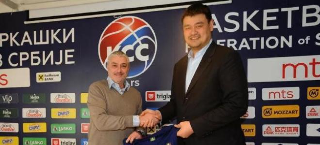 姚明访问塞尔维亚篮协,双方将签署一份长期合作协议