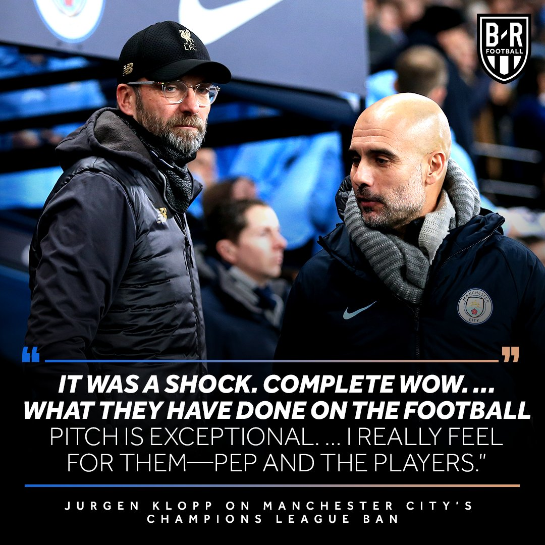 克洛普:曼城欧冠禁赛?我只谈足球,曼城在场上很出色