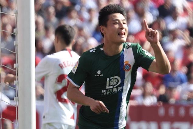 武磊首发即破门苏索传射,西班牙人客场2-2塞维利亚