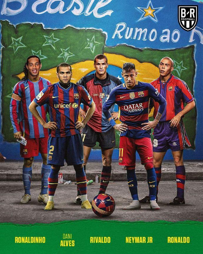 B/R海报:同队效力过的同国球员,代表俱乐部踢五人制