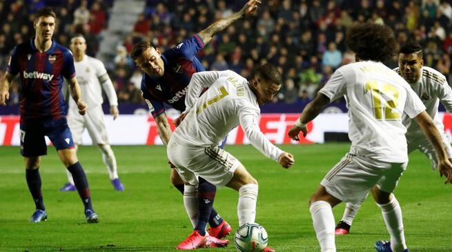 卡塞米罗失空门莫拉莱斯世界波破门,皇马客场0-1莱万特