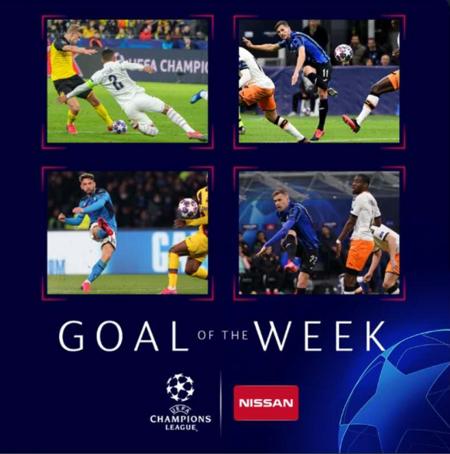 欧冠1/8决赛首回合最佳进球候选:哈兰德默滕斯破门在列