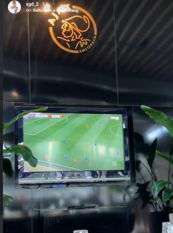 见证名场面?阿贾克斯后卫戴斯特观看拜仁对阵霍村