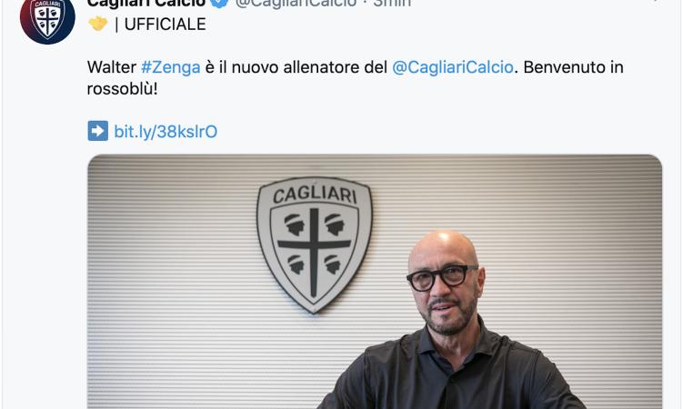 卡利亚里官方:曾加成球队新帅,合同将在2021年6月到期