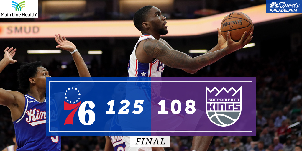 76人终结客场九连败,并且终结了客场对阵国王三连败