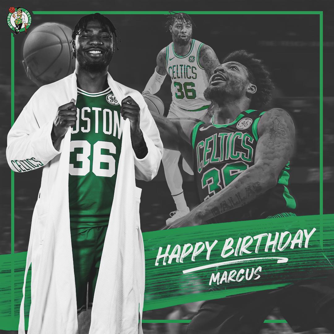 NBA官方和凯尔特人官方祝马库斯-斯马特26岁生日快乐