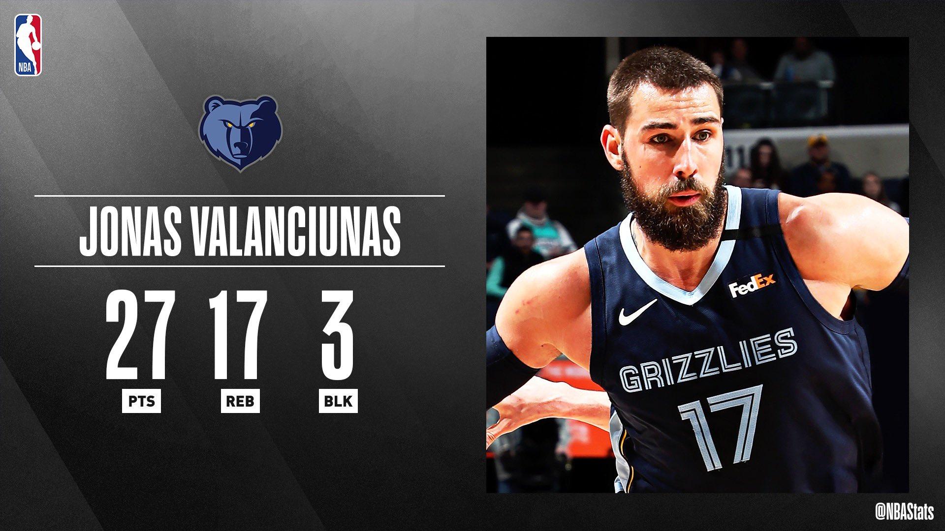 NBA官方评选最佳数据:瓦兰27分17篮板3帽当选