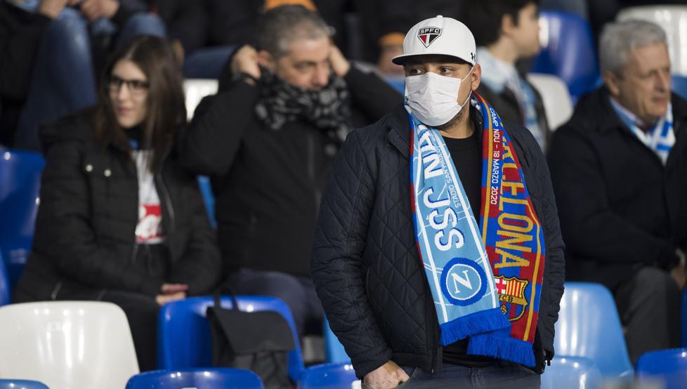 世体:巴萨已禁止那不勒斯球迷购票,空场将损失450万欧