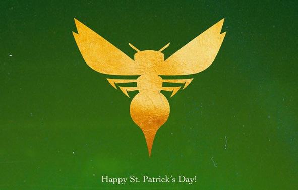 黄蜂官方INS更新祝贺圣帕特里克节