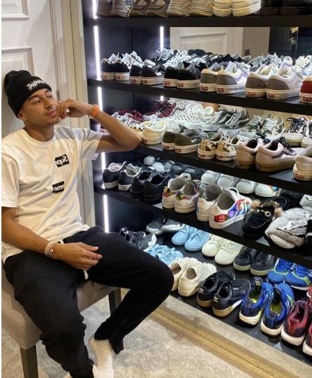 时尚生活!林加德晒出个人收藏的众多鞋子衣服