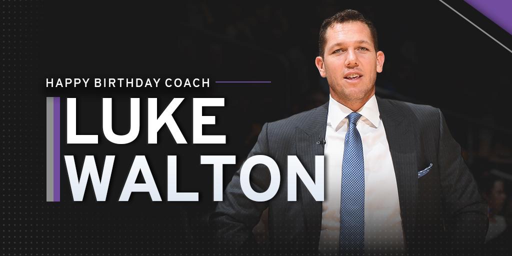 NBA教练协会官方祝国王主教练卢克-沃顿40岁生日快乐