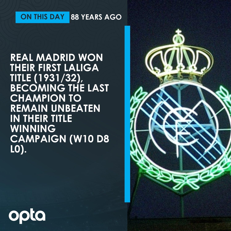 88年前的今天,皇马以不败战绩捧得首座西甲冠军