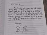 托拜厄斯-哈里斯微博发布致中国抗疫英雄的亲笔信