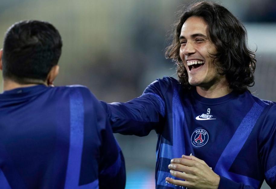 昂热前锋:在法甲联赛中,我最崇拜的球员就是卡瓦尼