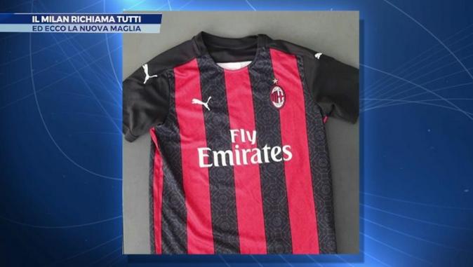 AC米兰2020-21赛季主场球衣曝光,文化与足球相融相符