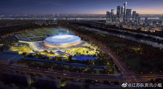 雨花足球场效果图出新!南京也要建专业足球场了