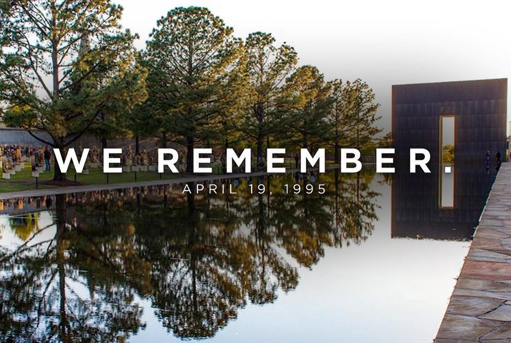 雷霆官方晒图纪念1995年俄城爆炸案的受害者