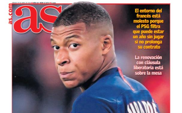联赛资讯-足球经纪人士:巴黎逼迫姆巴佩续约只会让他走得更快