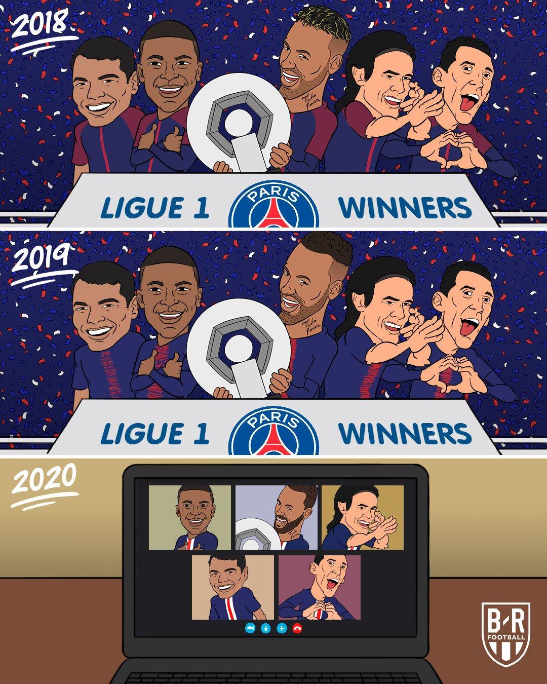 B/R海报:巴黎获得本赛季法甲冠军,队史第9座
